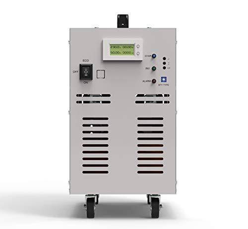 Solinba Spannungswandler 4000w/Spitzenleistung 12000w Reine Sinuswelle Auto-Wechselrichter für 24VDC auf 230VAC 50Hz Inverter Stromwandler