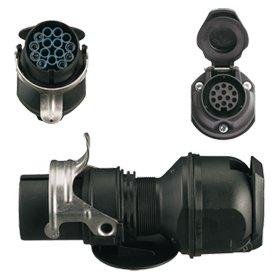 Spannungsreduzierung / Adapter LKW 15-pol.24V / 13-pol.12V PKW
