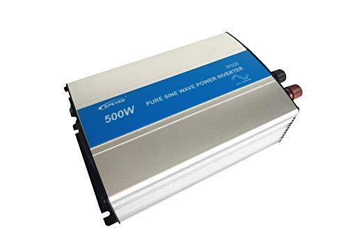 EPEVER® reiner Sinus Spannungswandler 500W IP500-12 Inverter Wechselrichter 12V DC auf 230V AC Stromwandler (IP500-12, 500W 12V/230V)