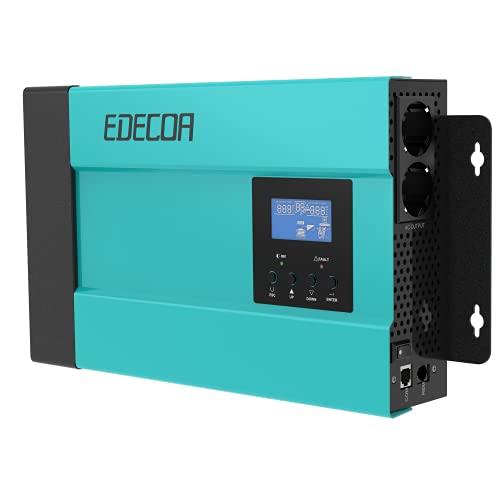 EDECOA Wechselrichter 2000w Spannungswandler 12v auf 230v Reiner Sinus LCD mit Fernbedienung Isolationsdesign Power Inverter