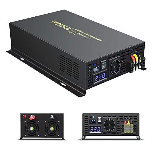 WZRELB 4000W 48V Reiner Sinus Wechselrichter spannungswandler DC-AC-Wandler