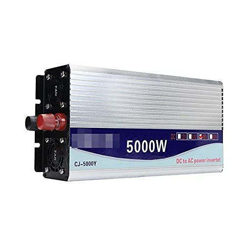 WBJLG Wechselrichter 12V/24V/48V 220V 5000W 10000W Peak-Modified Sinus Wave Power Spannungswandler Inverter Converter + LCD Display
