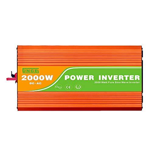 Decdeal Spannungswandler Ununterbrochener Reiner Sinus Wellen Inverter 110V 2000W Hochfrequenz Stoßspitzenleistung Watt Energie Inverter USB Hafen