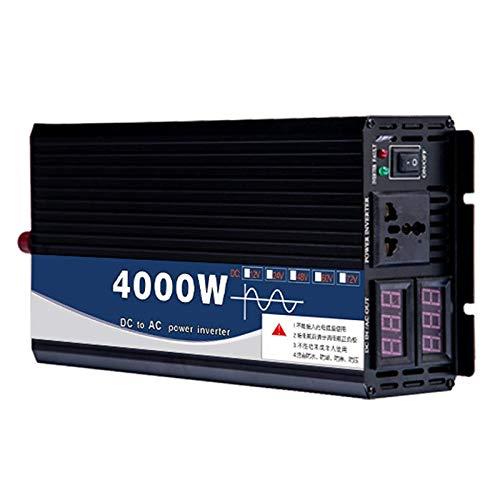 FDQNDXF Reiner Sinus-Wechselrichter 4000W / 5000W / 12000W Power Inverter Spannungswandler DC 24V / 48V zu AC 220V Umwandler mit Steckdose und LED-Anzeige für Camping Im Freien,48v to 220v,4000W