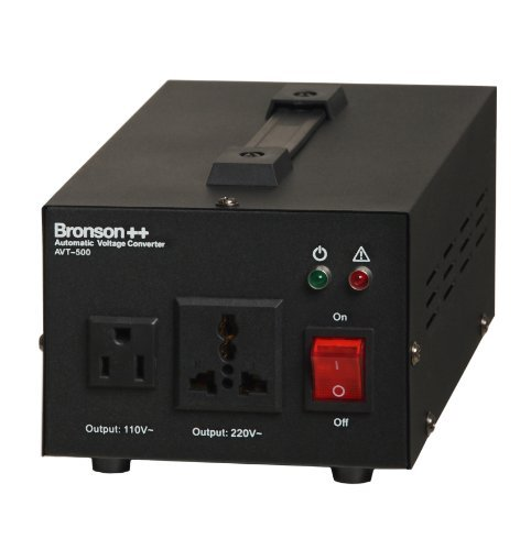Bronson++ AVT 500 - 110 Volt Transformator Spannungswandler USA Converter - 500 Watt - Step Up / Step Down Automatikbetrieb Ringkerntransformator - Bronson 110V 500W