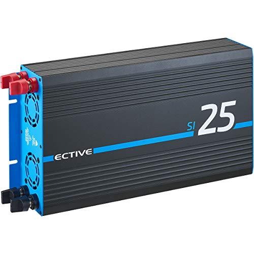 ECTIVE 2500W 12V zu 230V Reiner Sinus-Wechselrichter Power-InverterSI 25 Spannungswandler in 7 Varianten