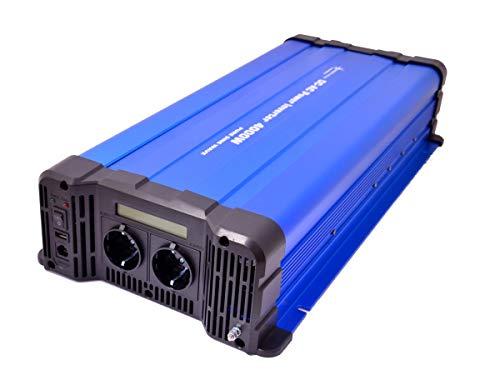 solartronics Spannungswandler FS4000D 24V 4000 Watt Reiner Sinus BLAU m. Display Wechselrichter Inverter