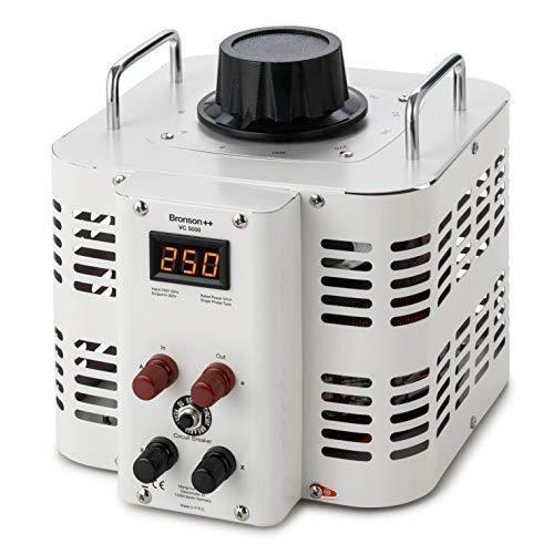 Bronson++ VC 5000 Stelltransformator Stelltrafo Variac - In: 230V - Out: 0-300V - 5000 Watt
