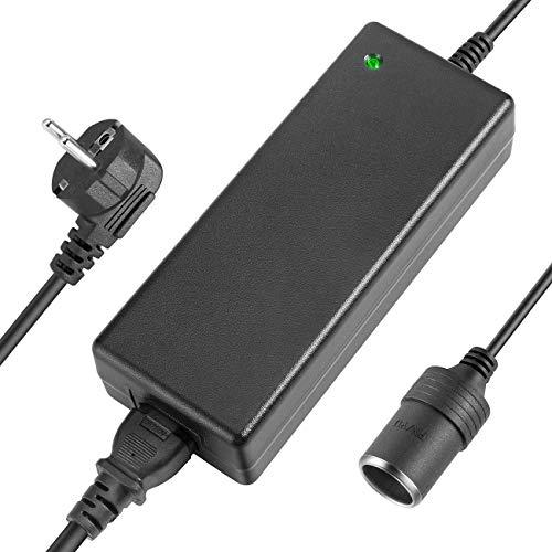 AGPTEK KFZ Netzadapter, Spannungswandler 100 bis 240V auf 12V/ 10A Wechselrichter mit Zigarettenanzünder-Buchse für Kompressor Kühlbox, LED Lampen und Ventilatoren
