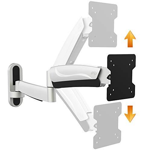 RICOO Monitor Wand-Halterung Schwenkbar Neigbar Höhen-Verstellbar (S2711) Universal Fernsehhalterung für 15-33 Zoll (bis 15-Kg, VESA 100x100) LCD PC Computer Bildschirm