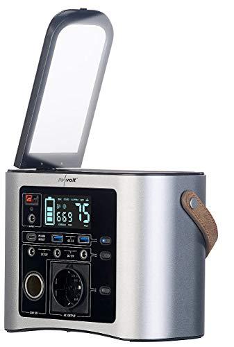 reVolt Powerbank Solarkonverter: High-End-Powerbank & Solar-Konverter 90 Ah, 333 Wh, 230 V, 300 W (Camping Akku)