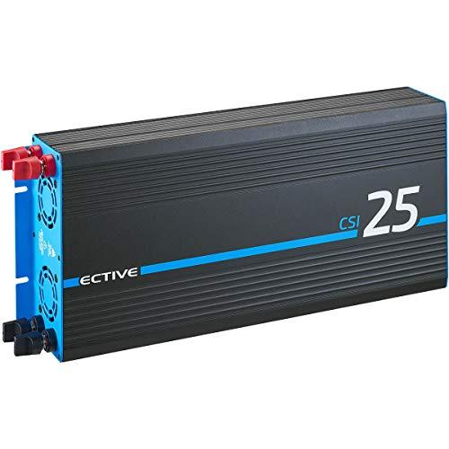 ECTIVE 2500W 24V zu 230V Reiner Sinus-Wechselrichter CSI 25 mit Batterie-Ladegerät, NVS- und USV-Funktion