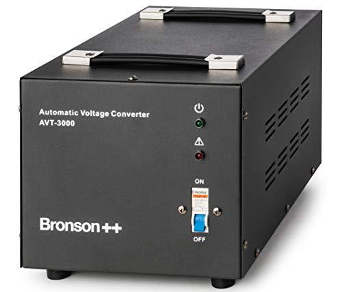 Bronson++ AVT 3000-110 Volt Transformator Spannungswandler USA Converter - 3000 Watt - Step-up/-down Ringkern-Trafo - Bronson 110V 3000W