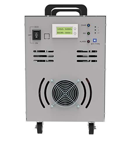 Solinba 5000w/Gipfel 15000w Spannungswandler Reine Sinuswelle Off Grid Auto Generator Wechselrichter DC24v zu AC230v 50Hz+Dual-LCD-Anzeige