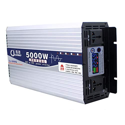 600W/1000W/2000W/3000W/4000W/5000W/6000W KFZ Spannungswandler, -Reiner Sinuswelle Wechselrichter DC 12/24/48/60(V) auf AC 220V Power Inverter Konverter mit Steckdose und USB-Anschluss Port,24v,5000W