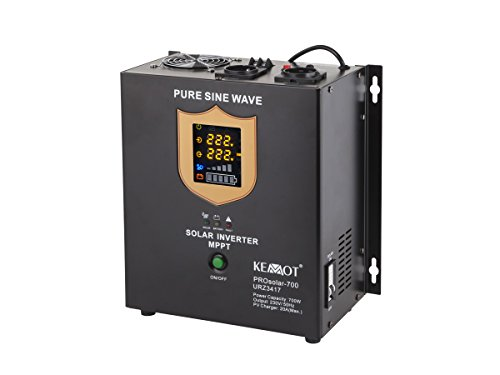 KEMOT URZ3417 Solarwechselrichter, Solarinverter 700 W, PV/AC