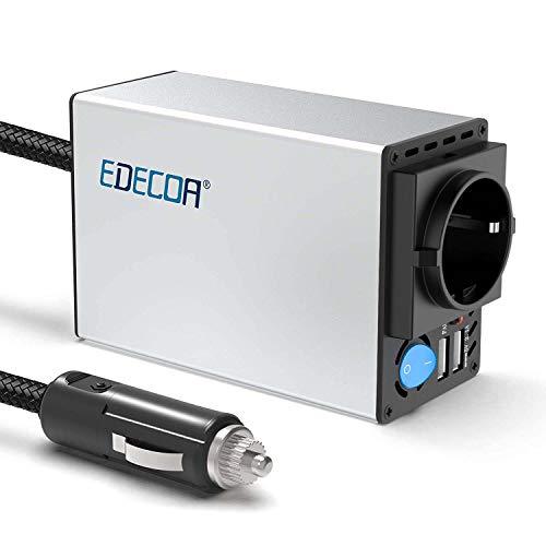 EDECOA Spannungswandler 300w Auto Spannungswandler 12v 220v Spannungswandler inkl Kfz Zigarettenanzünder Stecker und 2 USB Anschlüsse