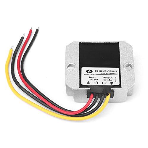 DC Wandler, DC12V / 24V Bis 5V Abwärtswandlerregler Wechselrichter 10A 50W Spannungswandler-Adapter Netzteil