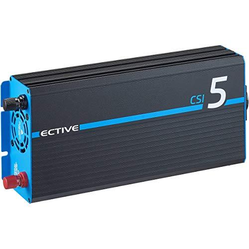 ECTIVE 500W 12V zu 230V Reiner Sinus-Wechselrichter CSI 5 mit Batterie-Ladegerät, NVS- und USV-Funktion