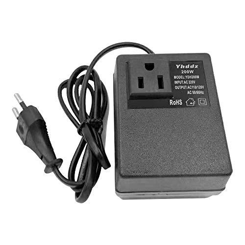 KKmoon Spannungswandler Adapter, intelligent, effizient, Heimnetz, 200 W, AC 220 V auf 110 V, Summer, Trafo, Reise, Adapter, Spannungswandler