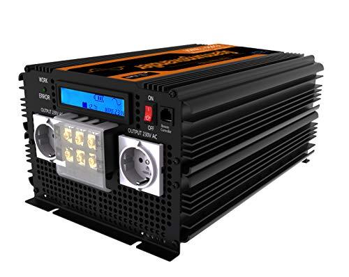 EDECOA Spannungswandler 24V 230V Reine Sinus 3500W Wechselrichter LCD Spannungswandler 3500w Reiner Sinus und LCD-Bildschirm