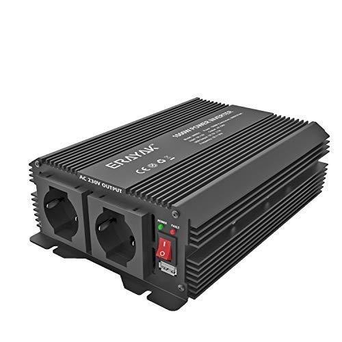 ERAYAK 1000W/2000W Spannungswandler 12v 230v Wechselrichter Power Solar Inverter DC AC Umwandler Stromwandler Fahrzeuge Wohnwagen Auto Modifizierte Sinus Sine Wave Autoladegerät