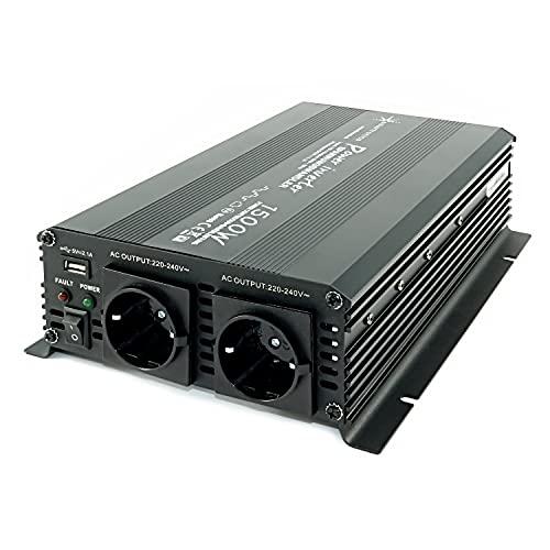 Spannungswandler 12V 1500 3000 Watt 230V - Wechselrichter für den mobilen Anschluss von Haushaltsgeräten …