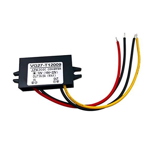 JZK Wasserdicht Spannungswandler 12 V auf 9 V 3A DC Stromwandler für TelefonAuto Audio Radio LED-Anzeige