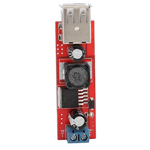 Hakeeta Fahrzeug-Buck-Spannungsreglermodul, Hochleistungs-Dual-USB-Buck-Spannungswandler 9V / 12V / 24V / 36V auf 5VDC-DC Fahrzeugladung 3A-Buck-Spannungsreglermodul.