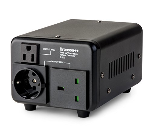 Bronson++ TI 200 110 Volt USA Spannungswandler Ringkern-Transformator 200 Watt - In: 110V oder 220V / Out: 110V und 220V - Bronson 200W