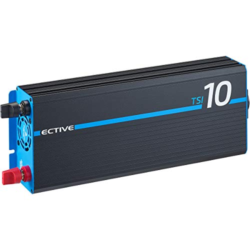 ECTIVE 1000W 12V zu 230V Reiner Sinus-Wechselrichter TSI 10 mit integrierter NVS- und USV-Funktion