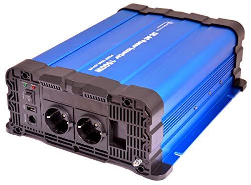 solartronics Spannungswandler FS1500DR 12V 1500/3000 Watt Reiner Sinus BLAU kein Display FS Serie Inverter Wechselrichter