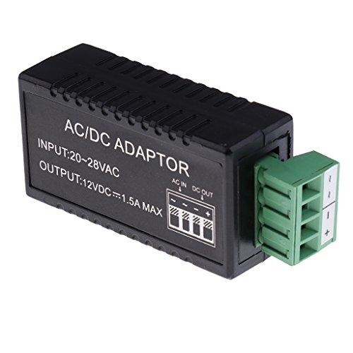 MagiDeal 24V AC auf 12V DC Konverter Netzteil Adapter Für CCTV-Kamera