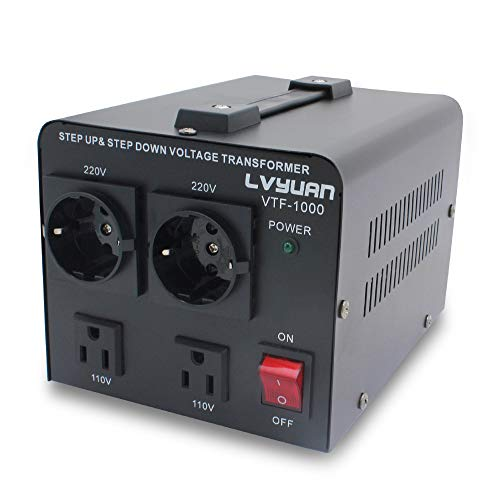Yinleader 1000W 110 Volt USA Spannungswandler Ringkern-Transformator 1000 Watt - In: 110V oder 220V / Out: 110V und 220V
