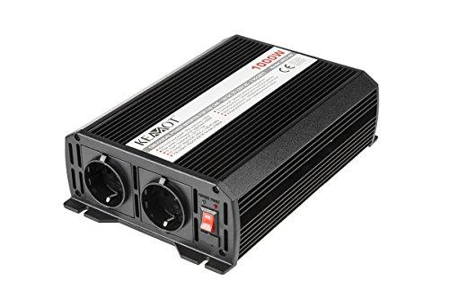 Kemot URZ3169 Spannungswandler 12V/230V 1000W (Stecker-Typ F x2)
