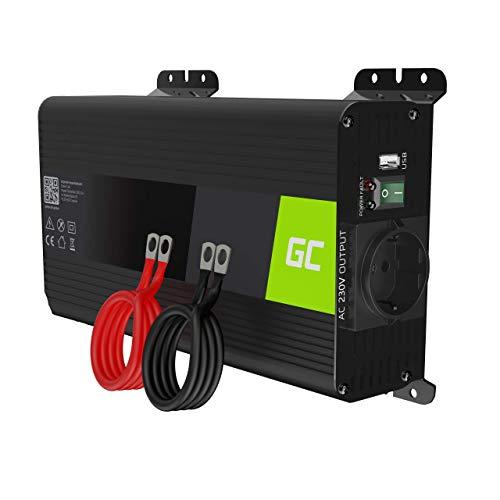 Green Cell PRO 500W/1000W 12V auf 230V Reiner Sinus Volt kfz Spannungswandler Wechselrichter Konverter Pure Sine Wave Power Solar Inverter DC AC Umwandler Stromwandler