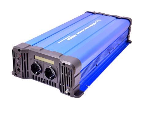 solartronics Spannungswandler FS4000D 12V 4000 Watt Reiner Sinus BLAU m. Display Wechselrichter Inverter
