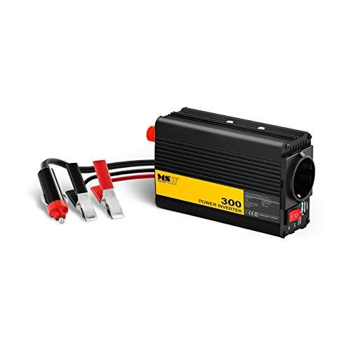 MSW Spannungswandler Wechselrichter Stromwandler MSW-CPI-300PSL (300 W, DC 12 V zu AC 230 V, reine Sinuswelle inkl. Adapter für Zigarettenanzünde)