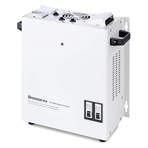 Bronson++ WTI 4000 110 Volt USA Spannungswandler Transformator zur Wandmontage 4000 Watt - In: 110V oder 220V / Out: 110V und 220V - Bronson 4000W