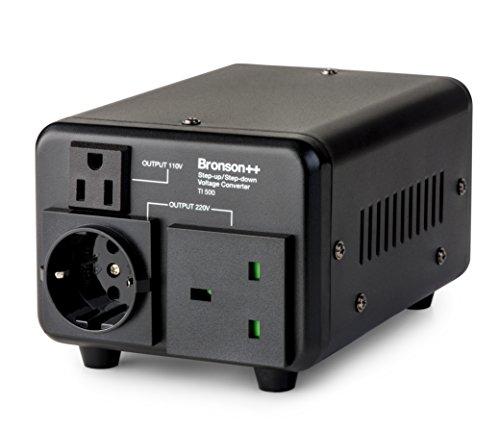 Bronson++ TI 500 110 Volt USA Spannungswandler Ringkern-Transformator 500 Watt - In: 110V oder 220V / Out: 110V und 220V - Bronson 500W