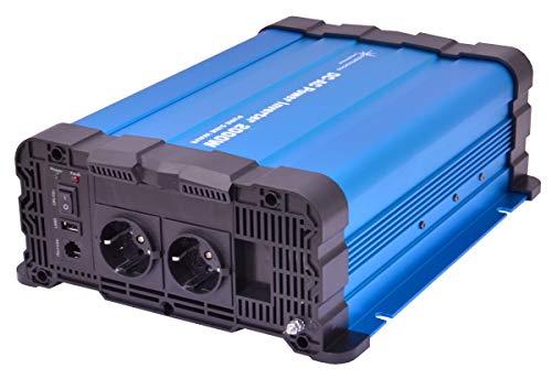 solartronics Spannungswandler FS2000DR 12V 2000/4000 Watt Reiner Sinus BLAU kein Display FS Serie Inverter Wechselrichter…