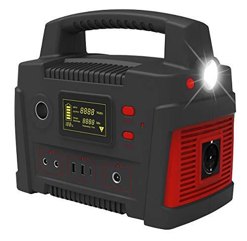 reVolt Solargenerator: Powerbank & Solar-Konverter, 114 Ah, 420 Wh, 230 V, 12 V, USB, 600 W (Energiestation)