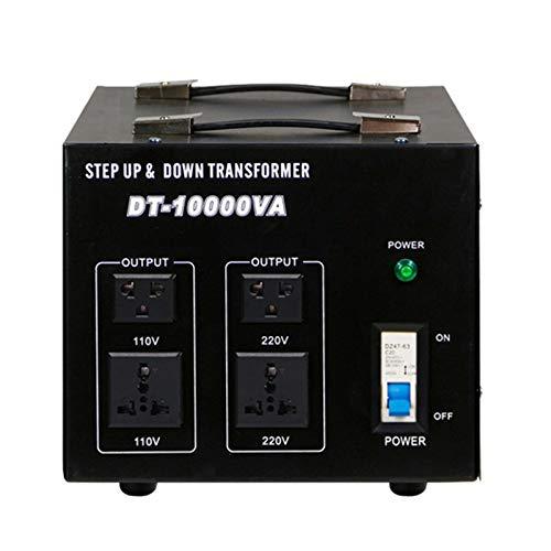 EnweMahi 10000W Spannungswandler,220 V Bis 110 V.110V Bis 220V Transformator Multi-Country Universalbuchse,Voltage Converter für Betrieb Elektrischen Geräten USA in Europa,10000W