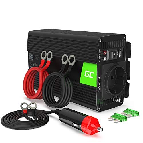 Green Cell® 500W/1000W 12V auf 230V Sine Wave Volt kfz Spannungswandler Wechselrichter Power Solar Inverter DC AC Umwandler Stromwandler Wohnwagen Auto Modifizierte Sinus Zigarettenanzünder Steckdose