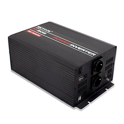 ECTIVE MI-Serie   Wechselrichter 3000W   24V zu 230V   7 Varianten: 300W - 3000W   Modifizierter 24 Volt Spannungswandler DC auf AC, 24V auf 230V Stromwandler, Konverter, Inverter mit mod. Sinuswelle