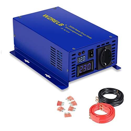 300W Spannungswandler 12V 230V Reiner Sinus Welle Spannungswandler Wechselrichter DC 12V auf 230V Stromwandler für Wohnmobile, Autos, Camping, Reisen