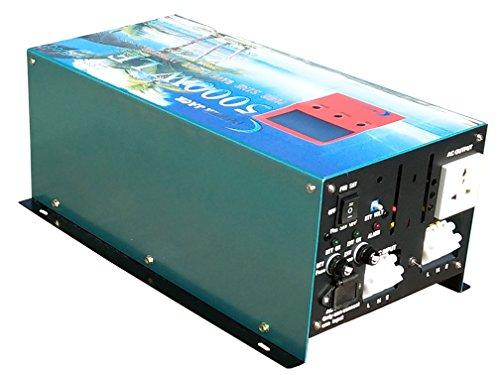 Upgrade Version 20000W PEAK/5000W Spannungswandler Reiner/SINUS Wechselrichter Power inverter dc 12V/ac 230V,80A Ladefunktion,UPS