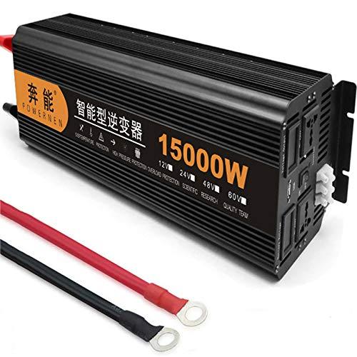 Reiner Sinus Wechselrichter 3200W/ 4000W/ 5000W /6000W /8000W /9000W /12000W /15000W Power Inverter Spannungswandler DC 12V/24V Auf AC 230V Umwandler - Pure Sine Wave Inverter Konverter,15000W-12V