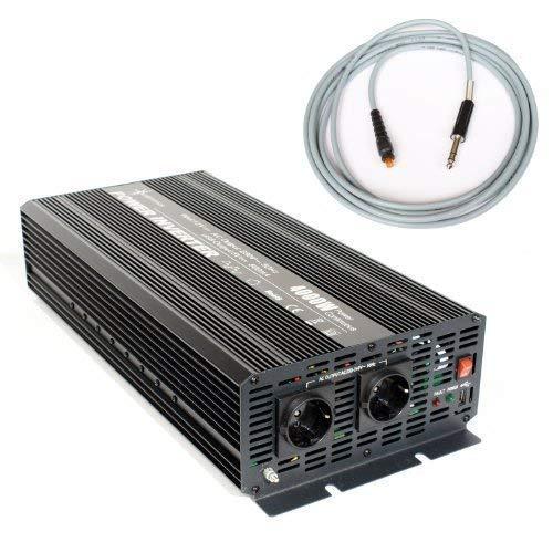 Spannungswandler 12V 4000/8000 Watt Inverter Wechselrichter incl. 5 m Fernbedienung
