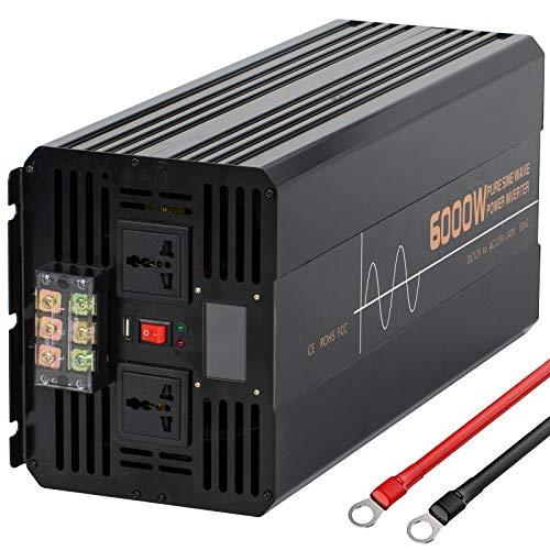 Reiner Sinus Wechselrichter 500W 1000W 1200W 1500W 2000W 2500W 3000W 3500W 4000W 5000W 6000W Spannungswandler DC 12V auf 220V 230V AC/KFZ Konverter Inverter Pure sine Wave,220V-6000W